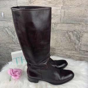 Banana Republic Brown Leather Riding Boots Size 8